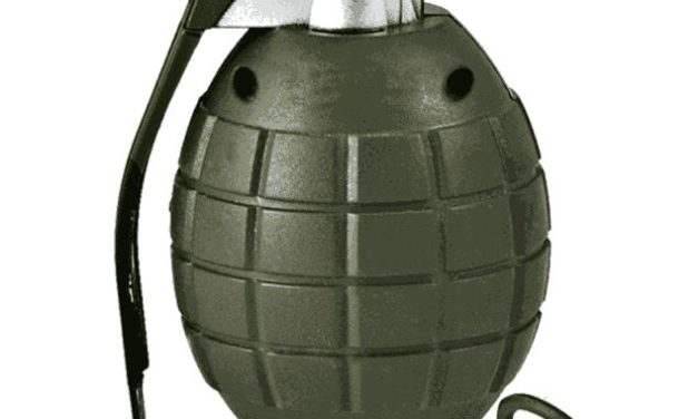 Suspected militants on Saturday night lobbed a grenade on Police Station Kralkhud in Downtown Srinagar.