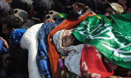 Two rounds of funeral prayers for slain militant Farhan Wani in south Kashmir, thousands attend