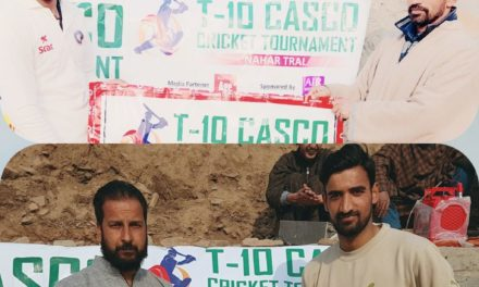 T10 COSCO Cricket Tournament:Shaldraman beat Batagund by 10 wickets while as Naher beat FV's Tral by 23 runs
