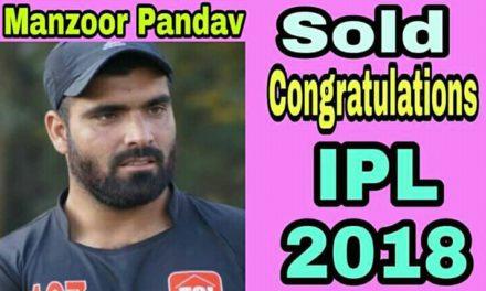 Shabrooz Malik and Butt Mudasir congrats Pandav for his selection'