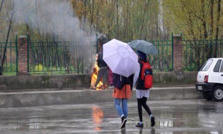 Upper reaches receive fresh snowfall; rain lashes plains in Kashmir