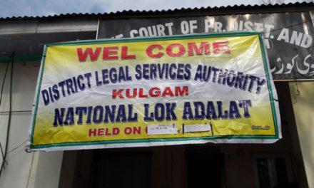 National Lok Adalat held in Kulgam today