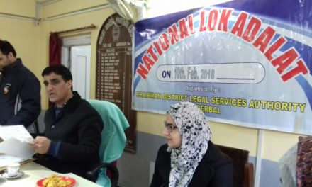 National Lok Adalat held at Ganderbal, 457 cases were taken up in which 274 cases disposed off