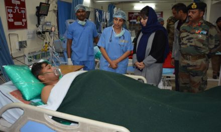 Mehbooba visits Army Hospital, Satwari, enquires about the injured