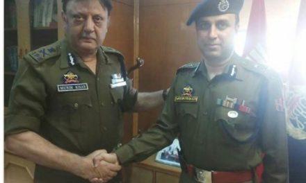 S P Pani takes over as Kashmir IGP