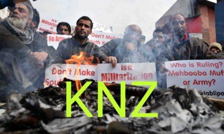 Legislator Rasheed, Jablipora residents protest in Srinagar, demand removal of army camp.
