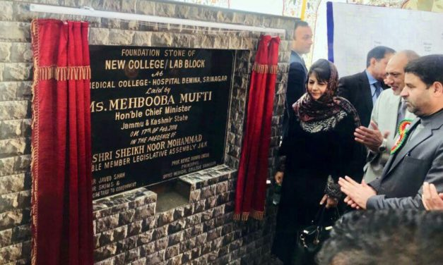 Mehbooba lays foundation of Rs 172 cr Hospital building, college block at SKIMS Medical College