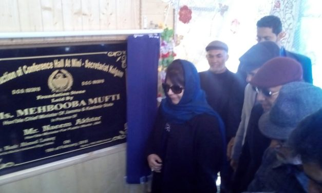 Mehbooba Lays Foundation of Rs 48 Cr developmental projects in Kulgam