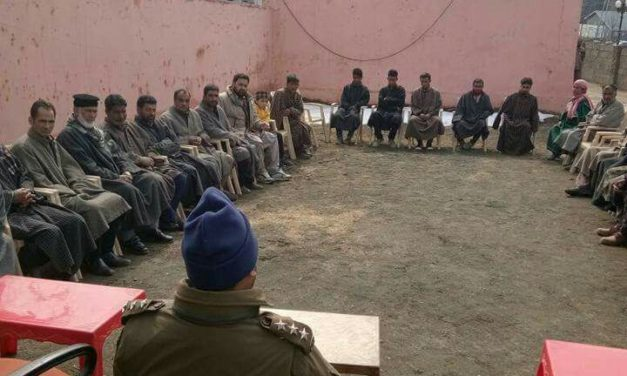 Police holds Counselling session for youth in Sub- Division Kokernag District Anantnag.