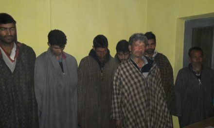 Ganderbal Police Arrested 07 Gamblers,rupees 5300 recovered