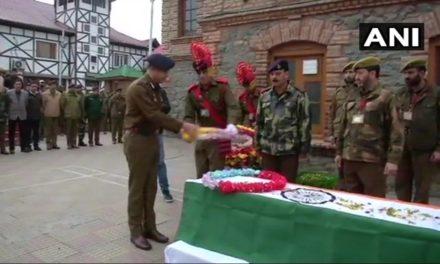 Wreath laying ceremony of Kultar Singh held at DPL Srinagar
