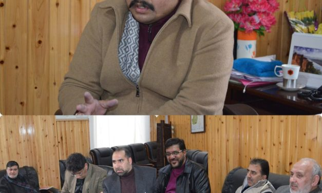 DDC Ganderbal and VC CUK reviews Process of Shifting CUK Campus at Ganderbal