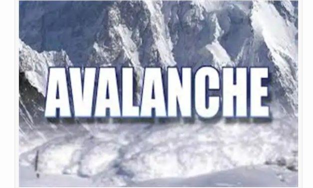 Medium danger avalanche warning issued