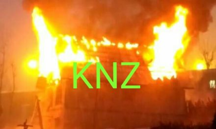 Fire Damages Residential House In Ganderbal