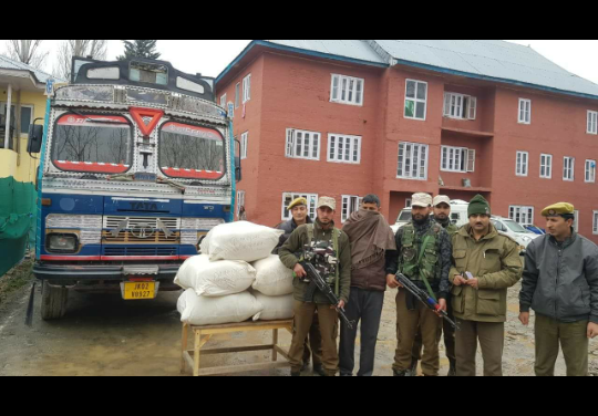 Truck seized, huge quantity of Psychotropic Substance recovered, driver arrested.