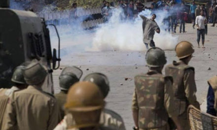 Clashes erupted during CASO at Drabgam, Pulwama