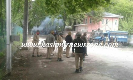 Clashes in Ganderbal after students protest against Kathua rape-and-murder