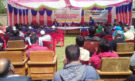 Anti Polythene Awareness Camp Organized by MCA in Town Hall Achabal Anantnag