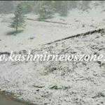 Fresh snowfall In Famous tourist resort of Sonamarg