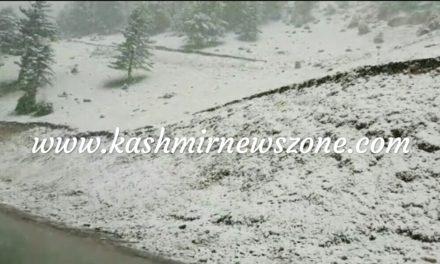Fresh snowfall In Famous tourist resort of Sonamarg