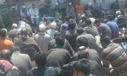 Ishfaq Jabbar holds meeting with party workers at Kachan Ganderbal