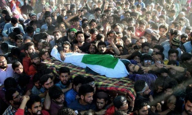 Hizb Commander Sameer Tiger, associate laid to rest amid pro-freedom slogans