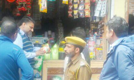 Market Checking Intensified At Gund and adjoining areas On The Eve Of Ramzan-Ul-Mubarak