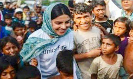 Indian actress Priyanka Chopra visits Rohingya refugee camps in Bangladesh