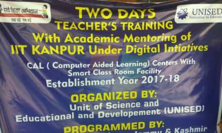 Two days teachers training with Academic mentoring of IIT Kanpur Under Digital initiatives organised by UNISED
