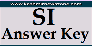 J&K Police official answer Key for SI Executive/Armed, Telecom all series