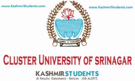 Cluster University of Srinagar Attention BG 3rd Semester.