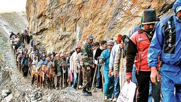 Amarnath Yatra resumes after three days