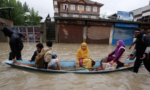 Floods declared in central Kashmir also, KU students reiterate postponement of exams today.