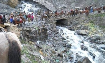 Bad weather suspends Amarnath Yatra again