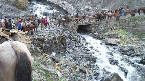Amarnath yatra remains suspended from Jammu for third day