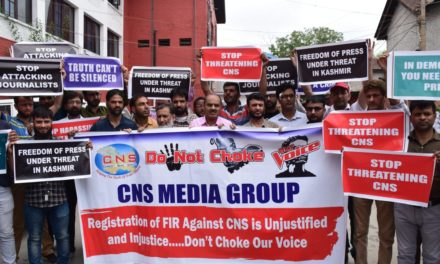CNS stages protest in Srinagar and Jammu against registration of FIR