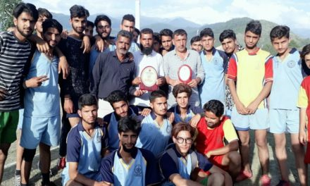 Kulgam become champion in inter district valley ball tournament of Kashmir province.