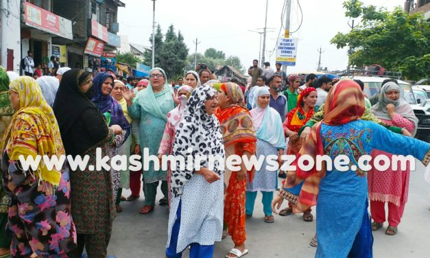 Protests against arrest of youths in Hyderpora Srinagar.
