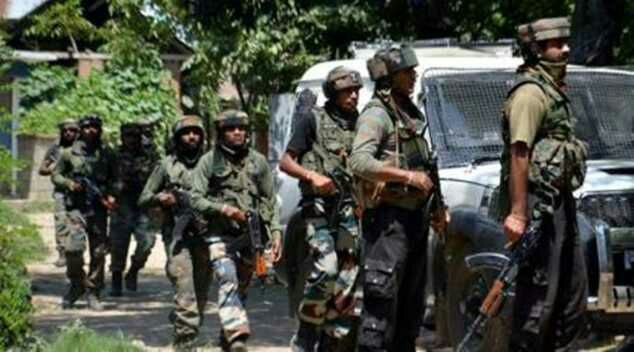 In Tangdhar sector near LoC three militant killed. Search continues .