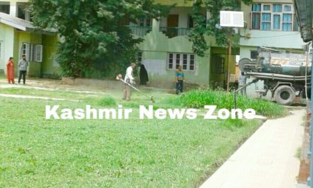 Impact of News Story carried by Kashmir News Zone, regarding the logging of water in Woman's college Srinagar