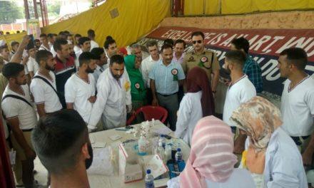 Mega Medical Camp held at Police Training School Manigam.
