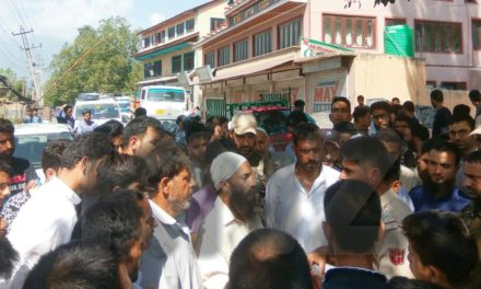 Ganderbal residents protest against PHE for supplying contaminated water