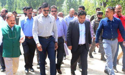 Advisor Kumar takes extensive tour of Ganderbal