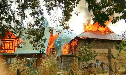 Two Residential houses gutted in fire In Ganderbal
