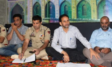 ADC G'bal visits Dab, reviews Muharram arrangements in the area