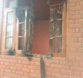 Panchayat Ghar damaged in Tral Village