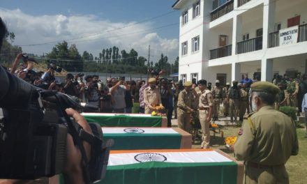Wreath laying ceremony for 03 martyrs held at DPL Shopian