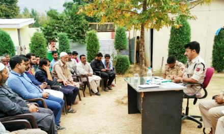 Police Community Participation Group meeting held In Safapora Ganderbal