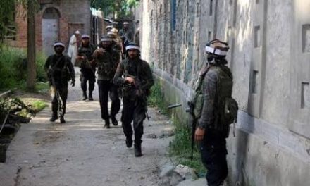 Forces launched a search operation in Tujjer village of Sopore