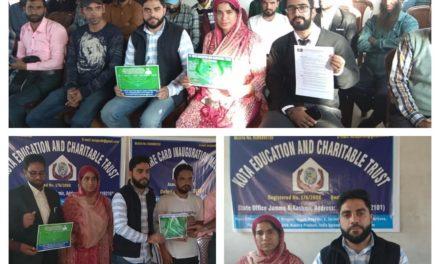 Kota education and Charitable trust held welfare card inauguration meeting at Nai Basti Anantnag.